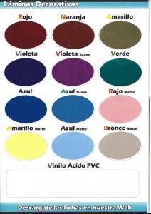 5 laminas color