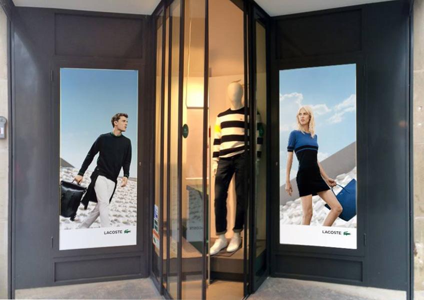 joyfer Rotulación promocional y publicidad escaparate lacoste pamplona
