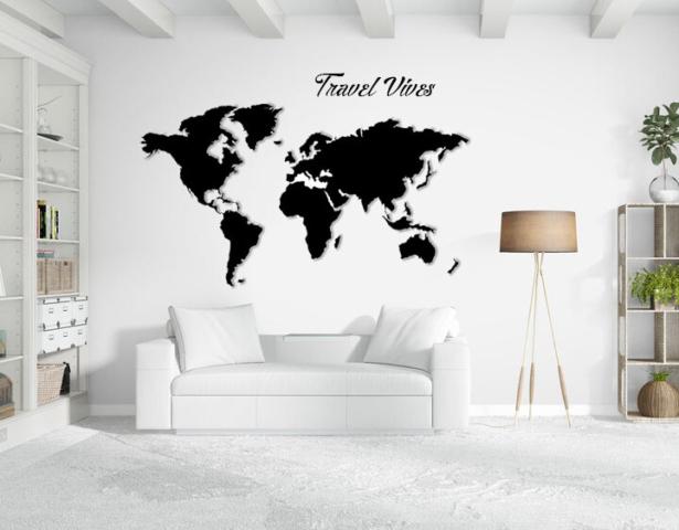 joyfer mapa corporeo con relieve pared y frase vinilo