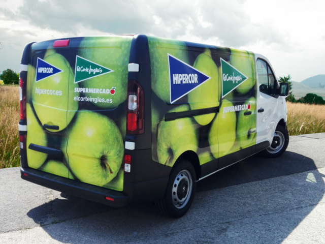 Joyfer - Rotulación vehículos - Rotulación integral wrap furgoneta Hipercor